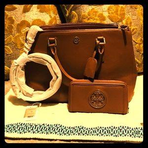 Tory burch handbag and wallet